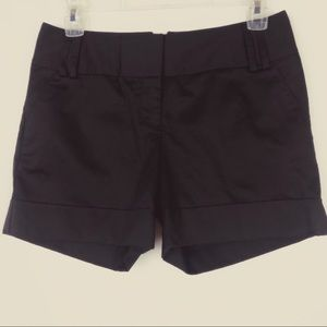 Express Black Cuffed High Waisted Shorts  - Size 2